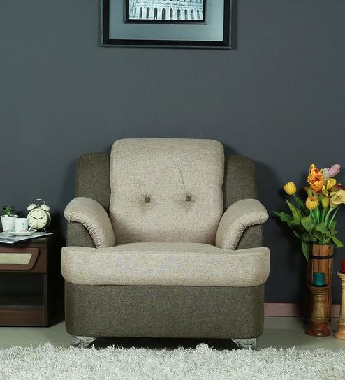 Sofas Salamanca Budm Salamanca One Seater sofa In Gold Brown Colour by Parin Online