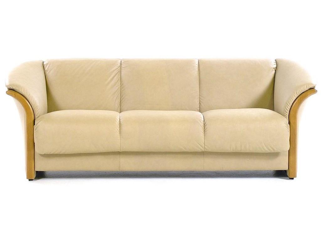 Sofas Stressless 4pde Manhattan Contemporary 3 Seat sofa Paloma Sand Teak by Stressless at Rotmans
