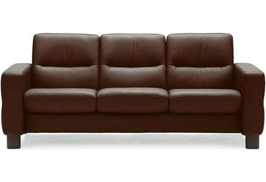Sofas Stressless Zwd9 Wave Low Back Reclining sofa by Stressless at Dunk Bright Furniture