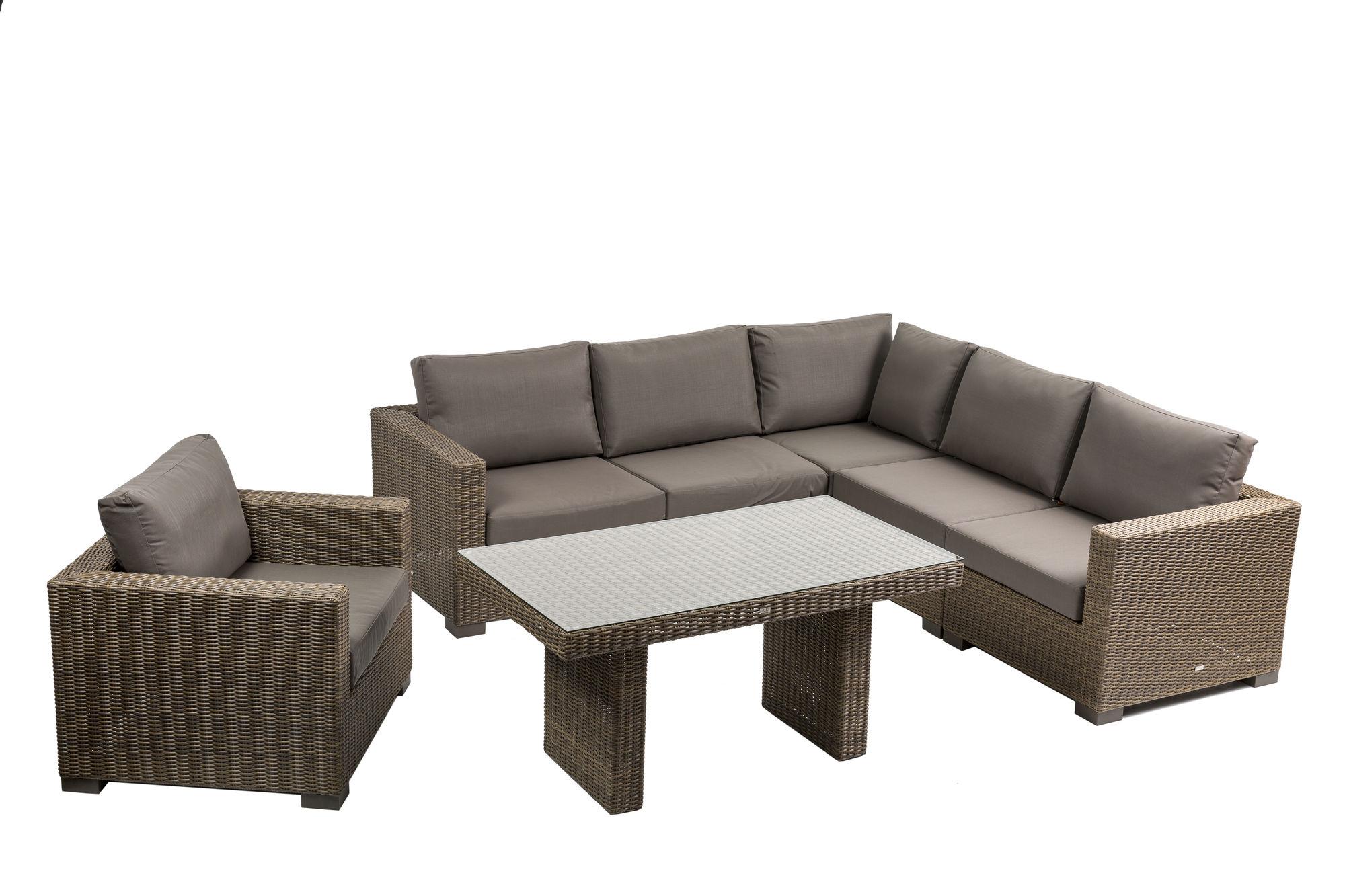 Sofas Tarragona E6d5 Tarragona Luxury Weave Light Brown Resin sofa Suite Avant Garden Uk