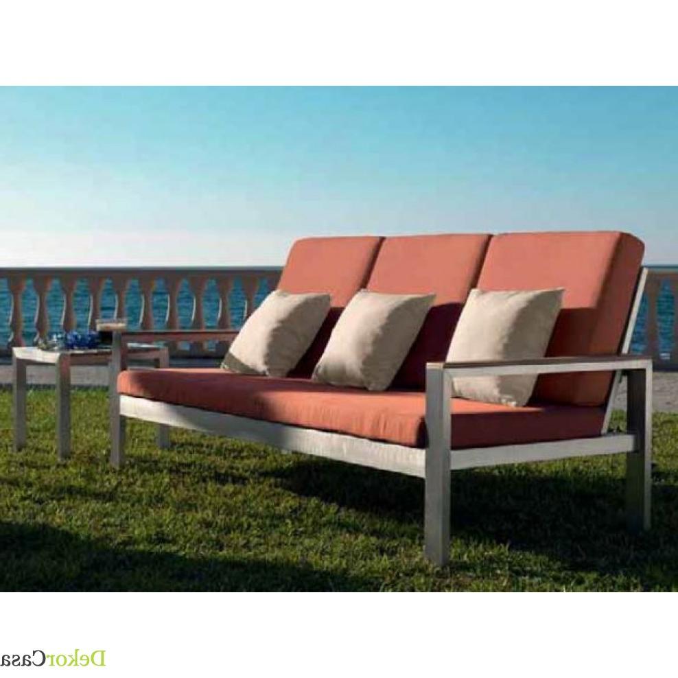 Sofas Terraza 0gdr sofà 3 Plazas Para Terraza Algaida 202 X 61 X 79 Cm