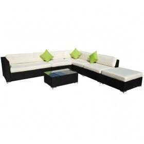 Sofas Terraza D0dg Muebles Jardin De Ratan Mimbre Y Aluminio 19 Piezas Color