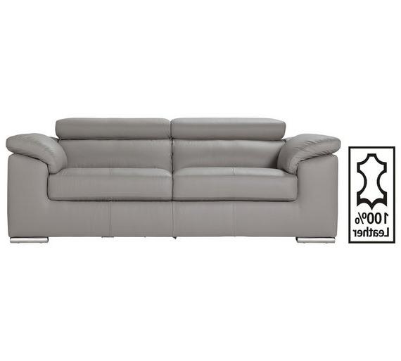 Sofas Valencia Drdp Hygena Valencia 3 Seater Leather sofa Light Grey sofas Argos