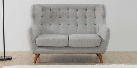 Sofas Valencia Gdd0 Valencia Two Seater sofa In Light Grey Colour by Casacraft