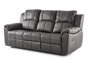 Sofas Valencia Kvdd Valencia 3 Seater Leather Recliner sofas Black sofa Set Suite Ebay