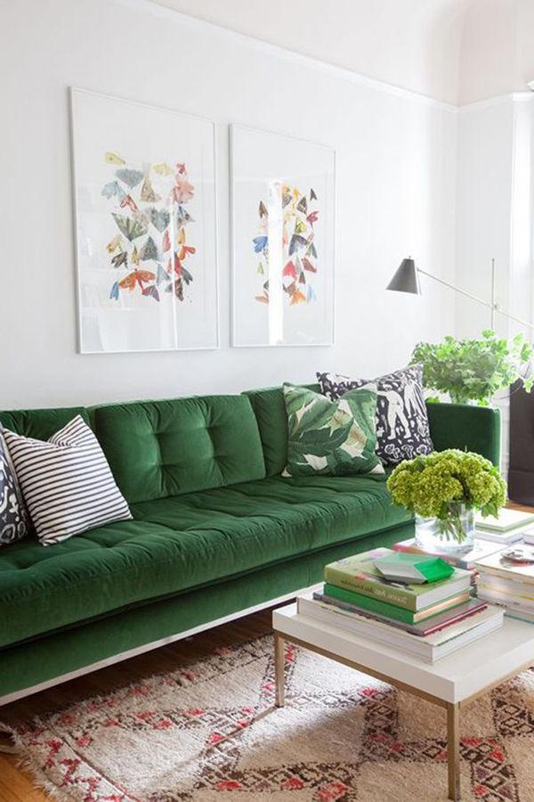 Sofas Verdes Fmdf 15 Salas sofà Verde Para Te Inspirar Living Spaces Pinterest