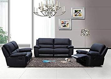 Sofasvalencia Whdr Speedy sofas Valencia Recliner 3 2 1 Suite Black Leather
