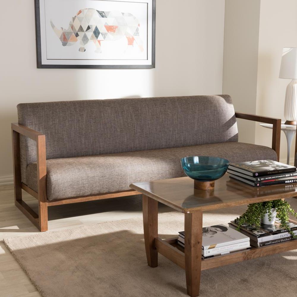 Sofasvalencia X8d1 Baxton Studio Valencia Mid Century Gray Fabric Upholstered sofa