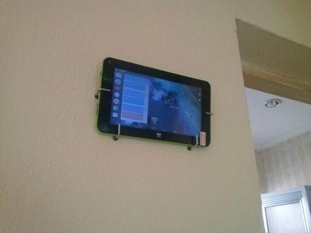 Soporte Tablet Pared Rldj Easy Tablet soporte Para La Pared Taladro Ganchos Y Anclajes De