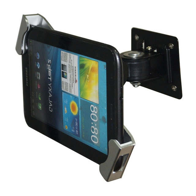 Soporte Tablet Pared Zwd9 Metal Seguridad Ipad soporte Tableta Flexible Pared Desk Mount