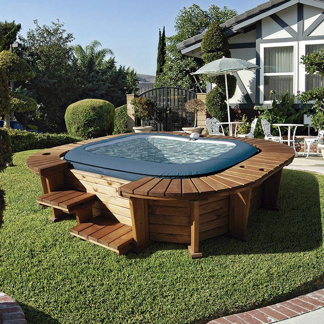 Spa Hinchable Drdp Spa Hinchable De Madera Palm Beach Jardinitis