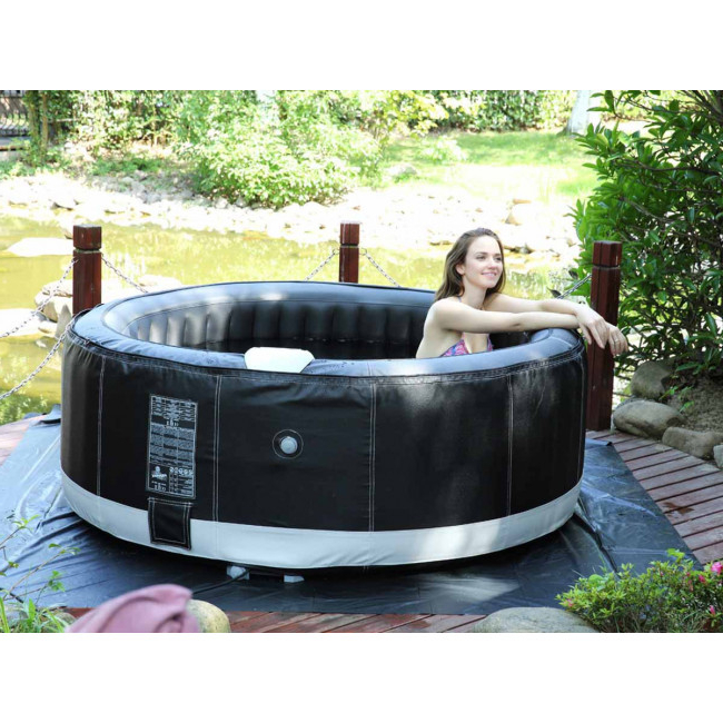 Spa Hinchable Fmdf Spa Hinchable Canne En Pvc 4 Plazas Negro