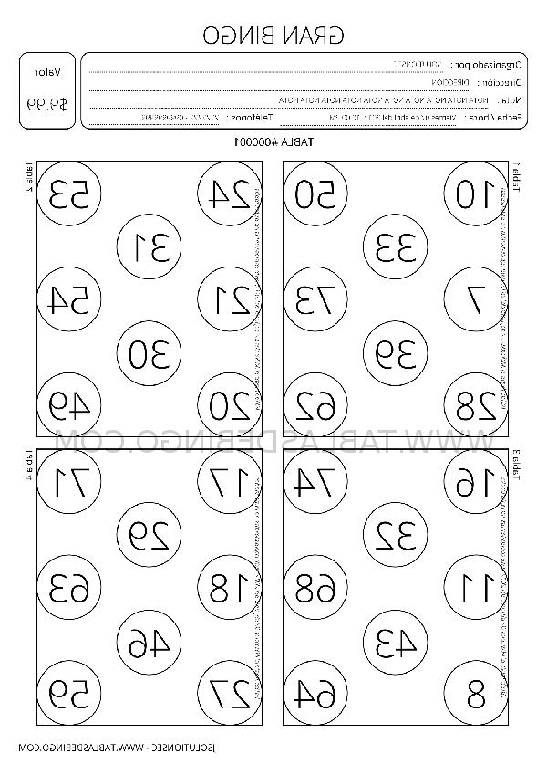 Tabla Del 4 U3dh Tablas De Bingo Personaliza Descarga En Pdf E Imprime
