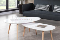 Table Basse 3id6 Stone Table Basse Ovale Scandinave Blanc Laquà L 88 X L 48 Cm