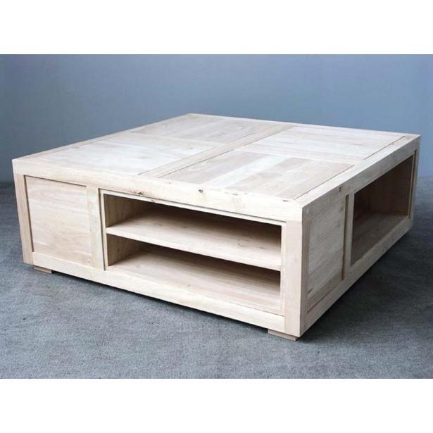 Table Basse Dwdk Table Basse Carrà E Avec Casiers Hà Và A 100x100x38cm Helena