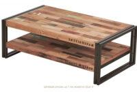 Table Basse Ffdn Table Basse Rectangulaire Indus En MÃ Tal Et De Bois De Bateau RecyclÃ