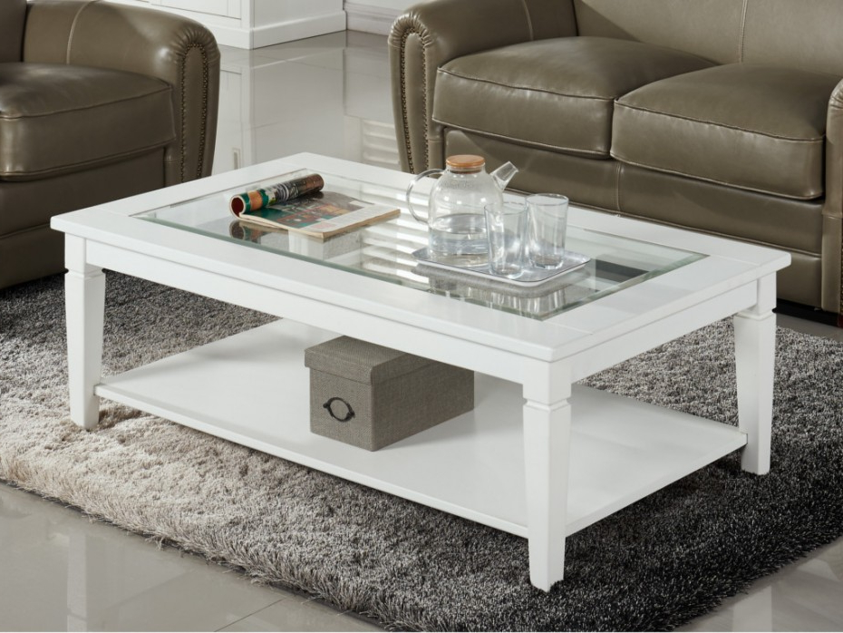 Table Basse Tqd3 Table Basse Guerande Plateau En Verre Trempà Pin Blanc