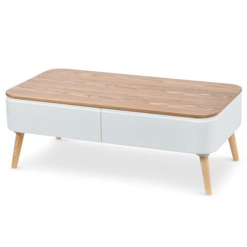 Table Basse U3dh Table Basse Scandinave Bergen Blanc Et Bois