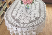 Table Cloth 3id6 Gorgeous Crochet Pattern Tablecloth Oval Huge Size Table Cover