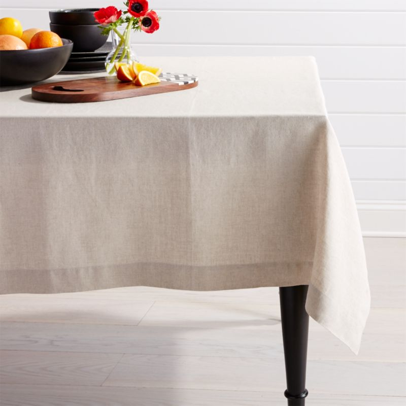 Table Cloth 3id6 Helena Dark Natural Linen Tablecloth 60 X90 Reviews Crate and