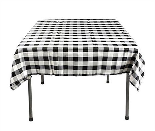 Table Cloth 3ldq Square Table Cloths Black White Checkered Pattern