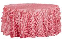 Table Cloth D0dg Petal Circle Taffeta Round 120 Tablecloth Coral Cv Linensâ