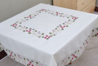 Table Cloth D0dg Table Cover Square Embroidery Design Table Cloth Decorful Home