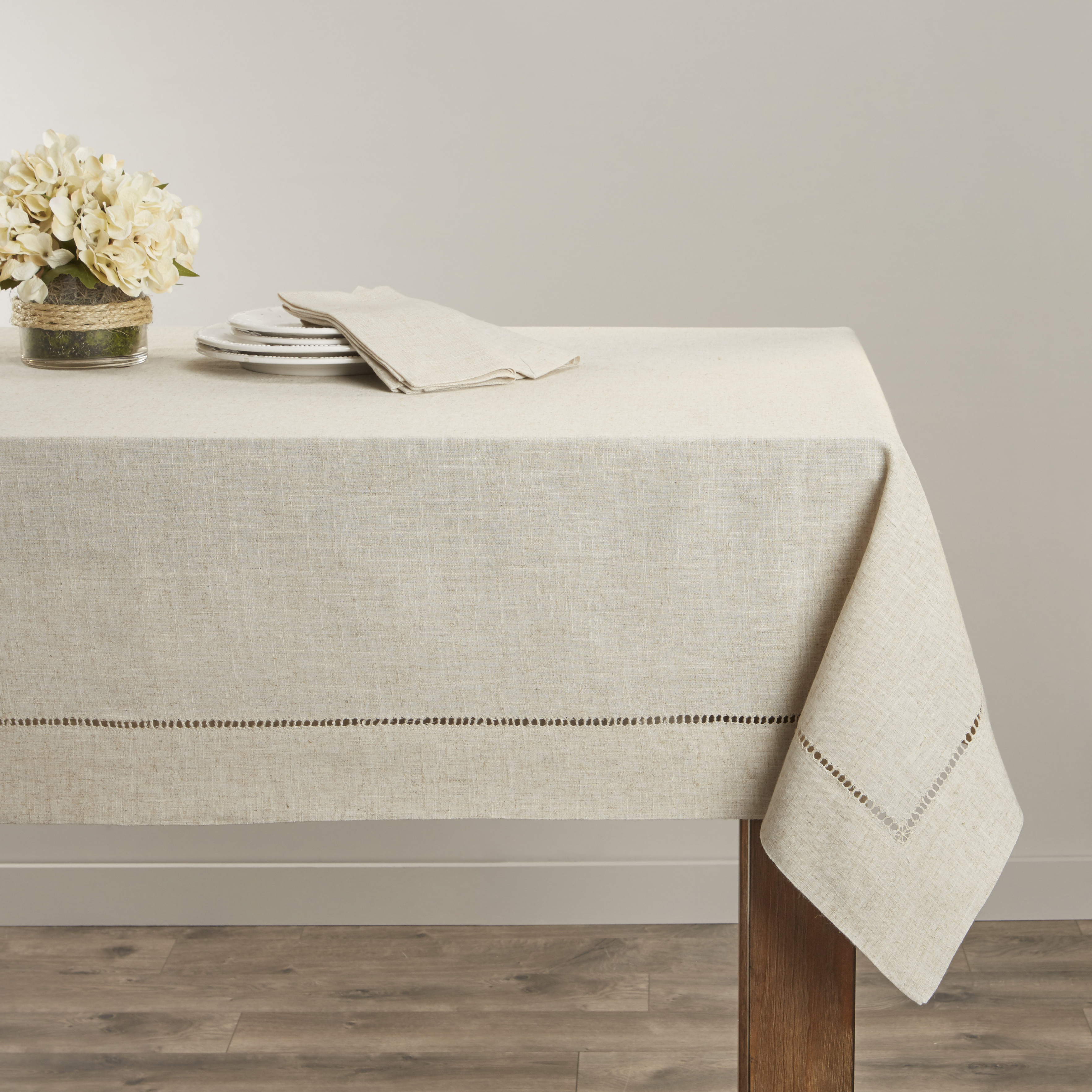 Table Cloth Etdg Laurel Foundry Modern Farmhouse Kitt Hemstitched Tablecloth