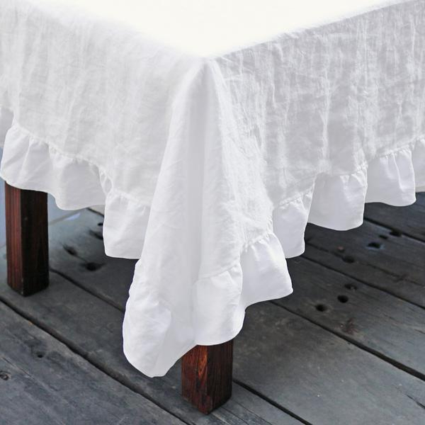 Table Cloth Fmdf Linen Ruffle Tablecloth Shabby Chic Table Linens for All Occasions