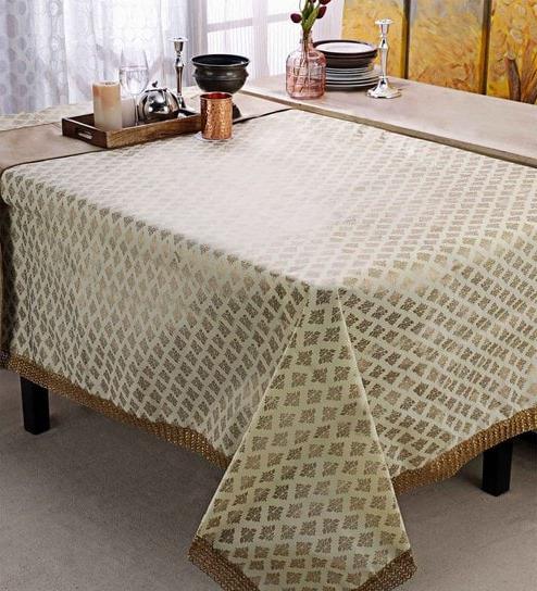 Table Cloth Ftd8 Cannigo Cream Fibre Table Cloth Online Table Cloths Dining