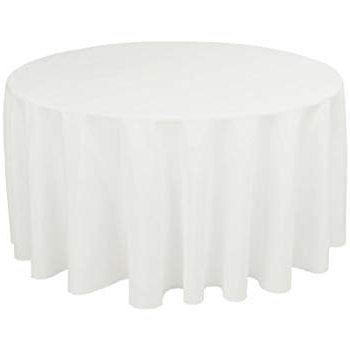 Table Cloth J7do Veeyoo 108 Inch Round solid Polyester Wedding Restaurant