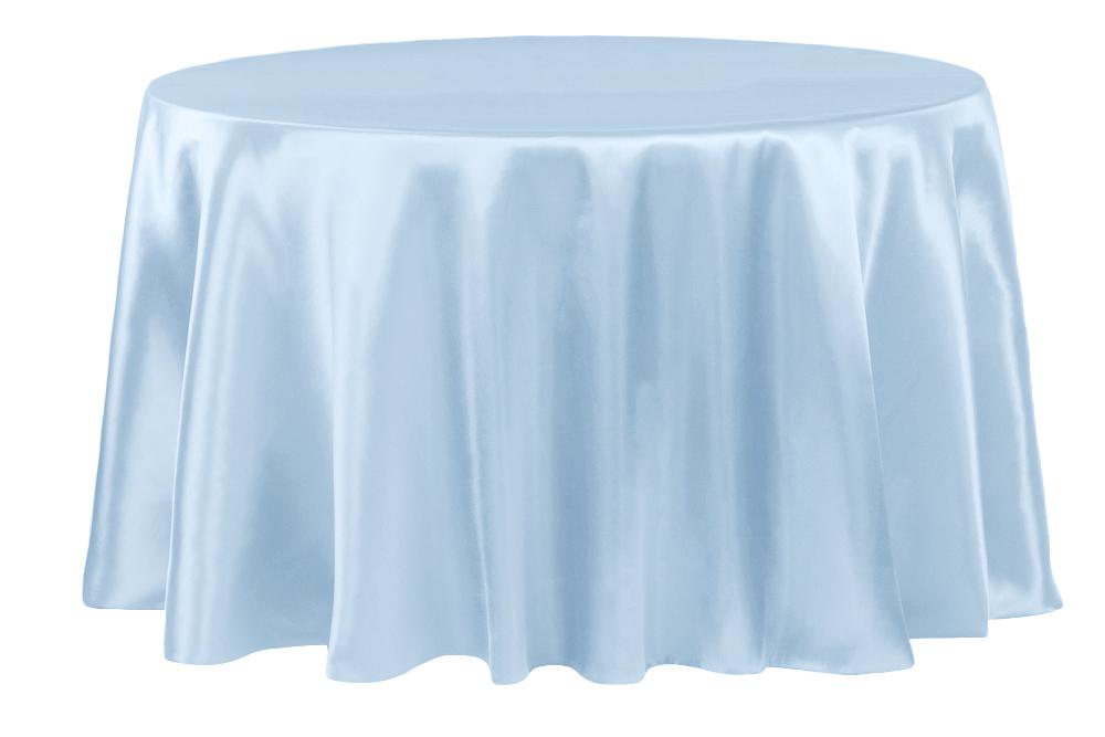 Table Cloth Kvdd Satin 120 Round Tablecloth Baby Blue Cv Linensâ