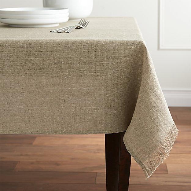 Table Cloth O2d5 Beckett Natural Linen Tablecloth Crate and Barrel