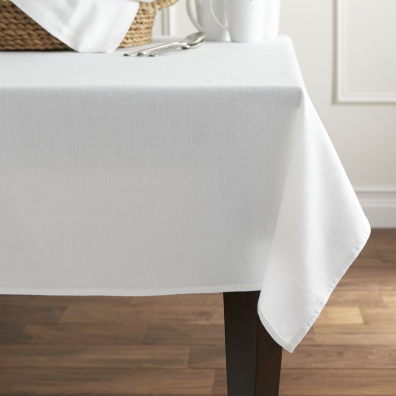 Table Cloth Tldn Abode White Square Tablecloth Crate and Barrel