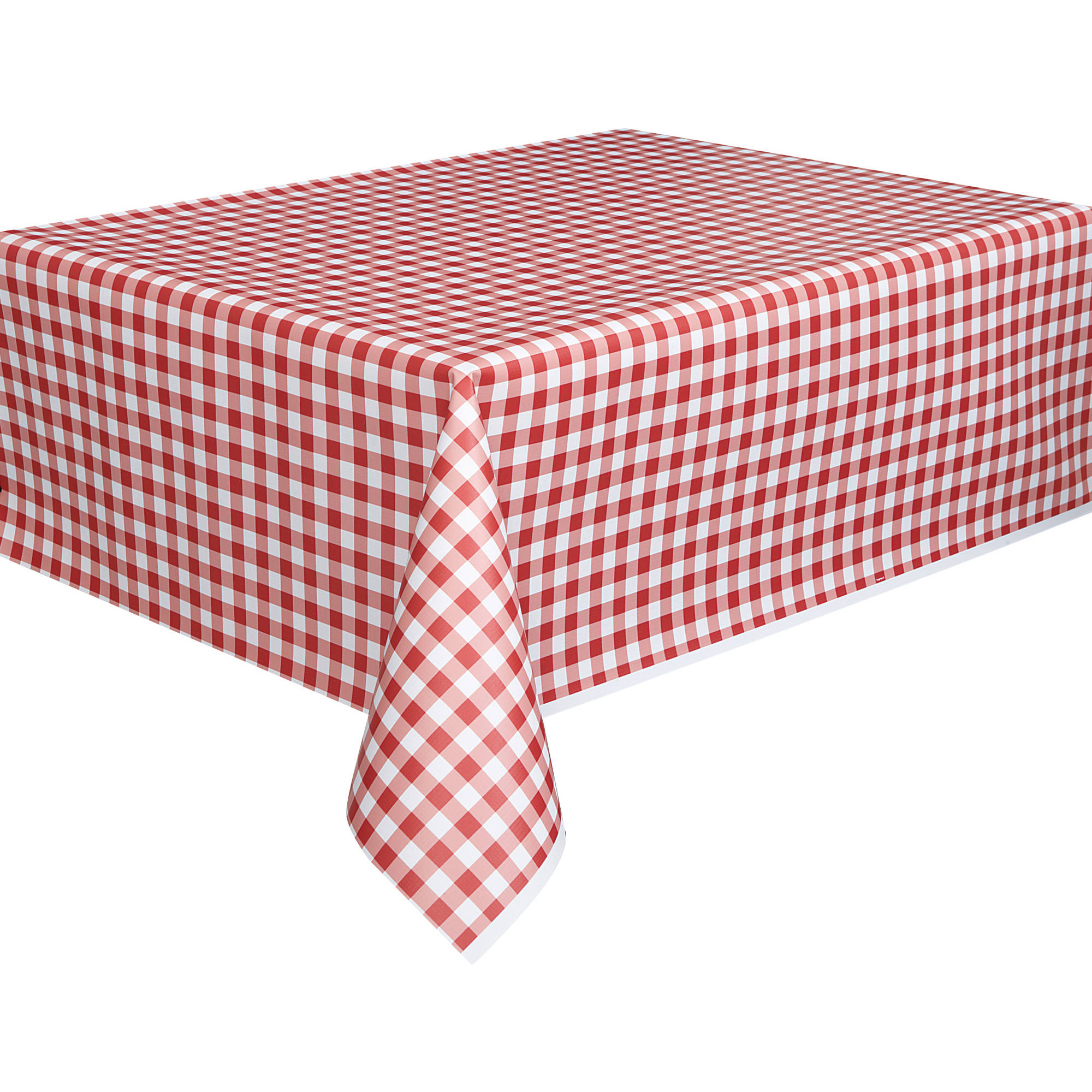 Table Cloth Tldn Red Gingham Plastic Party Tablecloth 108 X 54in Walmart