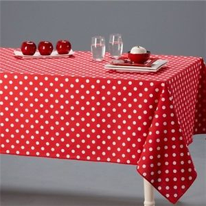 Table Cloth Y7du Red White Polka Dot Pure 100 Cotton Table Cloth Cover Napkins