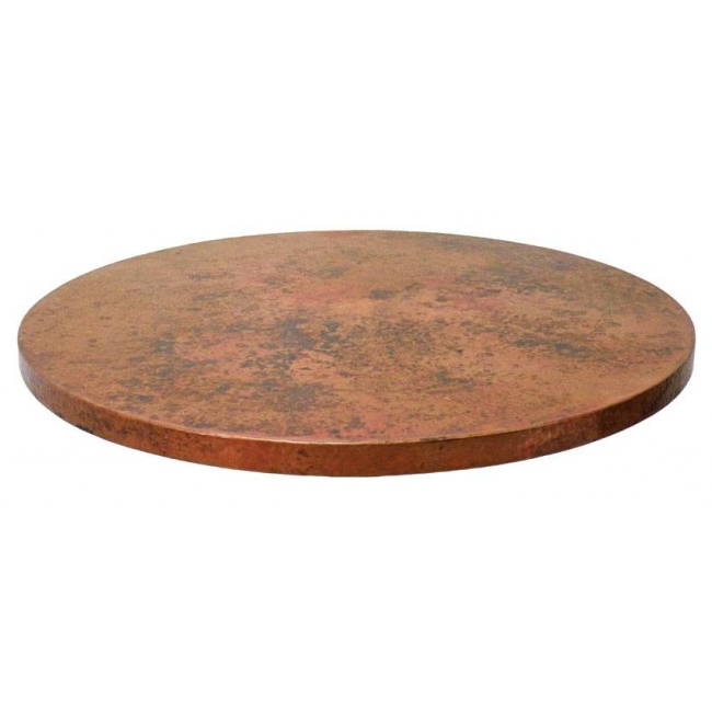 Table top 9ddf Round Copper Table top