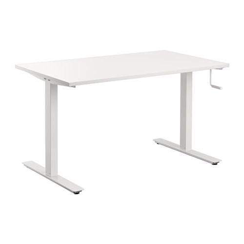 Tablero Mesa Ikea Wddj Skarsta Escritorio Sentado De Pie Blanco 120 X 70 Cm Ikea