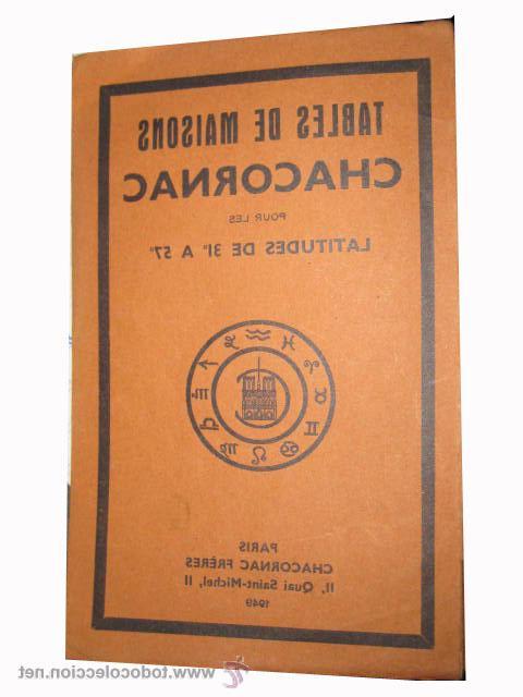 Tables De Segunda Mano 9ddf Tables De Maisons Chacornac Pour Les Latitudes Prar Libros De