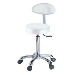 Taburete Regulable T8dj Taburete Regulable En Altura De 53 A 68 Cm Con Respaldo Blanco