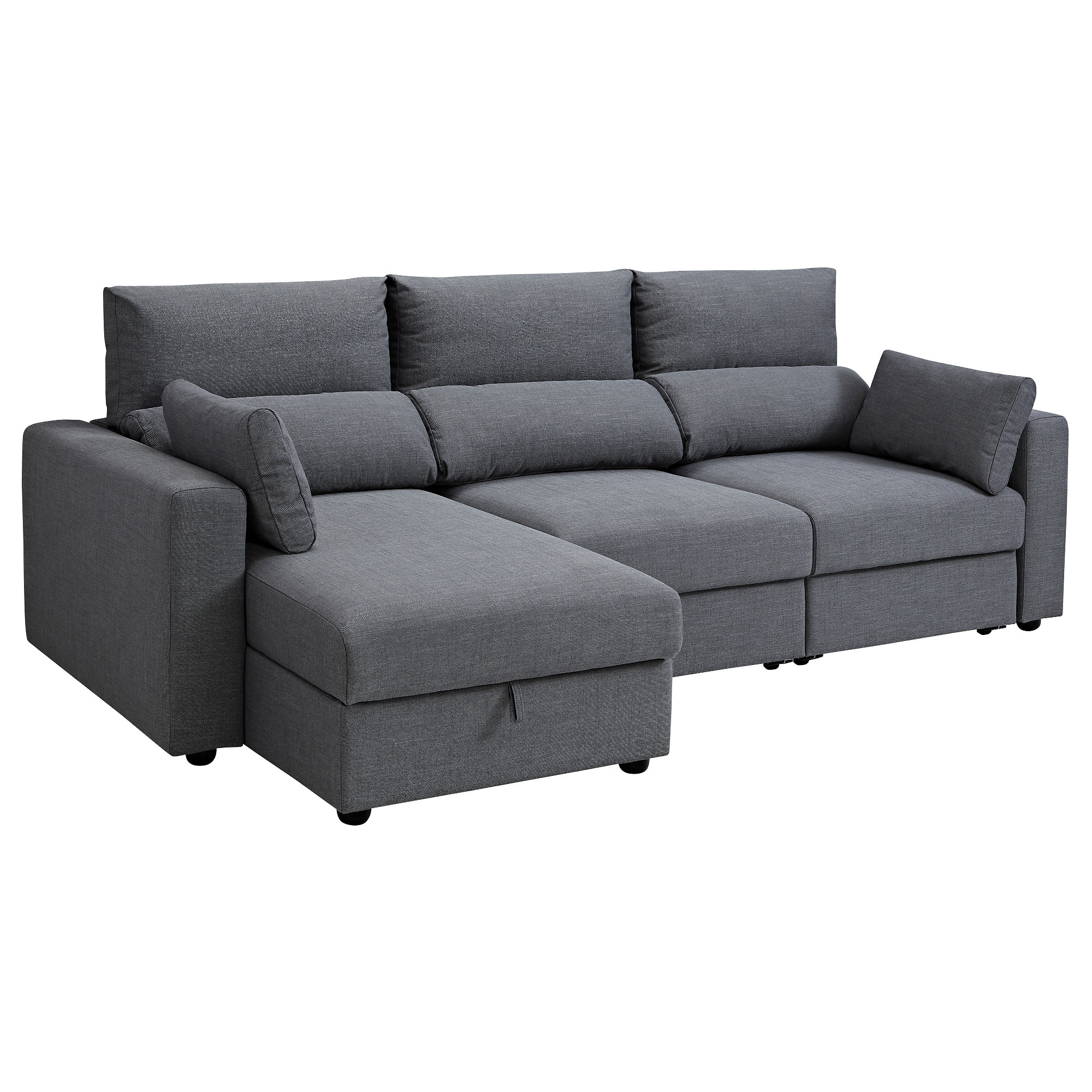 Tapizar sofa Precio Madrid 9ddf Eskilstuna 3 Seat sofa with Chaise Longue nordvalla Dark Grey Ikea