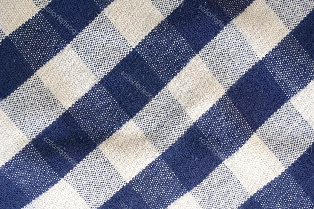Tela Mantel Etdg Antecedentes De Azul Y Blanco Tela Mantel De Picnic Fotos De Stock