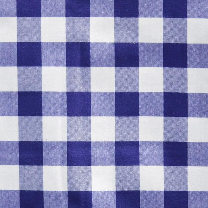 Tela Mantel X8d1 Mantel Estampado Cuadros Azul