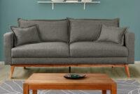 Tela sofa Q0d4 sofà 3 Plazas De Tela Color Rosa O Azul Pastel Acadia