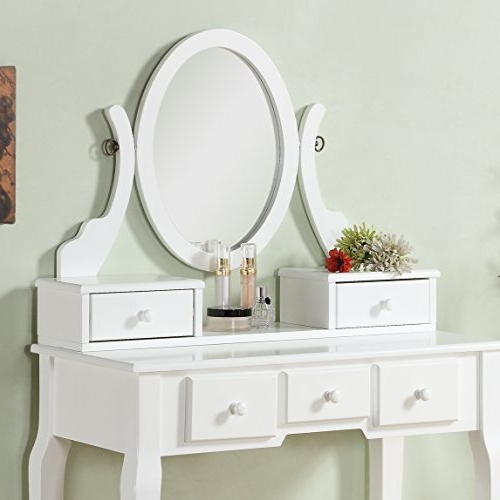 Tocador Blanco E6d5 Set De tocador Blanco Roundhill Furniture ashley Wood 1 334