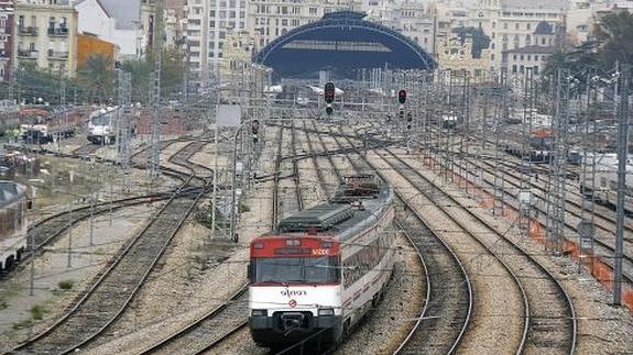 Tren Silla Valencia Etdg Plano Y Zonas De Las Là Neas De Trenes De Cercanà as Renfe Desde La
