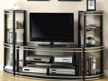 Tv Furniture Drdp Coaster Entertainment Units Demilune Black Silver Finish Tv Stand