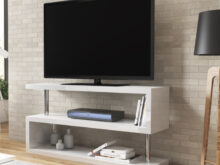 Tv Furniture Kvdd Artemis White High Gloss Geometric Tv Stand Furniture123