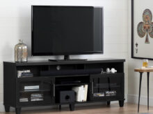 Tv Furniture Y7du south Shore Adrian Black Oak Tv Stand for Tvs Up to 75 In