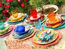 Vajilla Colores Budm Vajilla Villa D Este Calamoresca Juego 18 Platos De Gres Y Porcelana